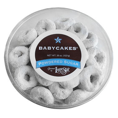 Lonestar Powdered Sugar Babycakes Donuts - 36 oz.