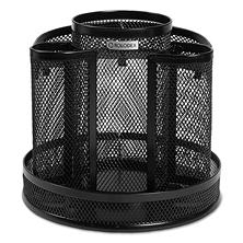 Rolodex - Wire Mesh Spinning Desk Sorter -  Black