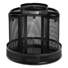 Rolodex - Wire Mesh Spinning Desk Sorter -  Black