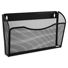 Rolodex - Single Pocket Wire Mesh Wall File, Letter - Black