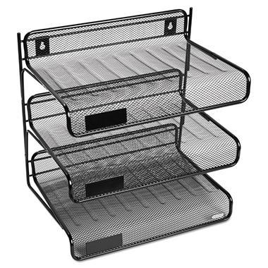 Eldon Expressions Mesh 3 Tier Desk Shelf Unit