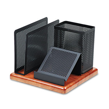 Eldon Distinctions Wood Base Desk Organizer