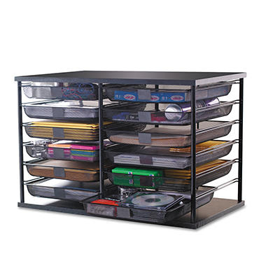 Rubbermaid 12-Compartment Organizer w/Mesh Drawers