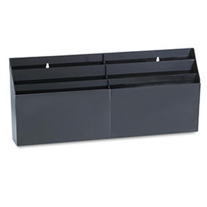 Six-Pocket Wall Mount/Desk Organizer - Black