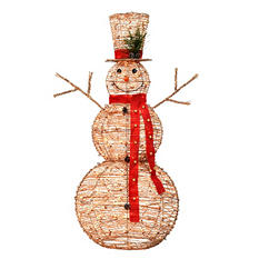 "60"" Sugared Grapevine Snowman"