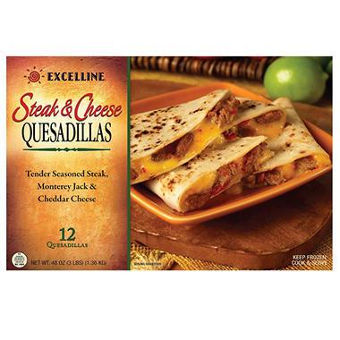 Excelline® Steak & Cheese Quesadillas - 12 ct.
