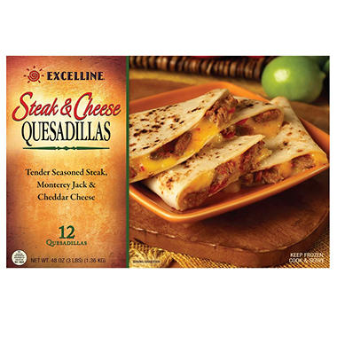 Excelline® Steak & Cheese Quesadillas - 12 ct.