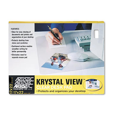"ARTISTIC -""Its Perfectly Clear!"" Desk Pad - 17 x 22"