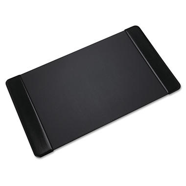 Artistic - Executive Desk Pad with Leather-Like Side Panels, 36 x 20 - Black