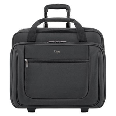SOLO Rolling Laptop Portfolio Case, Polyester, Black