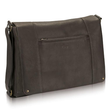 SOLO Vintage Leather Messenger - 16""
