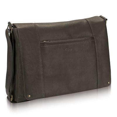 "SOLO Vintage Leather Messenger - 16"""