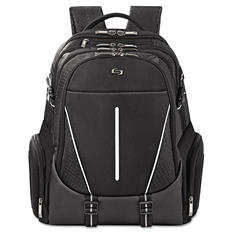"SOLO - Active Laptop Backpack, 17.3"", 12 1/2 x 6 x 18 3/4 -  Black"