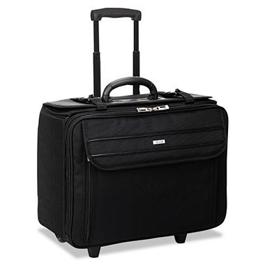 SOLO Rolling Laptop/Catalog Case, Ballistic Poly, 18 3/4
