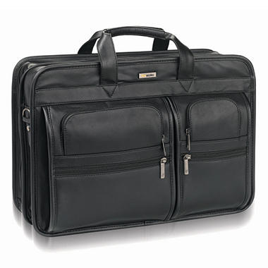 SOLO Classic Leather Briefcase - 16""
