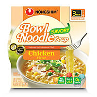 Nongshim Savory Chicken Bowl Noodle Soup (3.03 oz., 12 ct.)