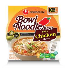 Nongshim Spicy Chicken Bowl Noodle Soup (3.03 oz., 12 ct.)