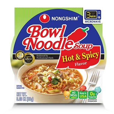 Hot & Spicy Noodle Bowl Soup - 3.03 oz. - 18 pk.