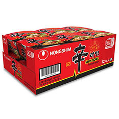 Nongshim Shin Bowl Noodle Soup (3.03 oz. bowl, 12 ct.)