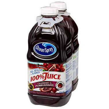 Ocean Spray 100% Cranberry Pomegranate - 2/64oz