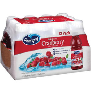 Ocean Spray Cranberry Juice - 12/15.2 oz. btls.