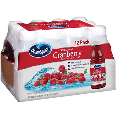 Ocean Spray� Cranberry Juice - 12/15.2 oz. btls.