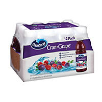 OS CRANGRAPE JUICE 12 / 15.2OZ BOTTLES