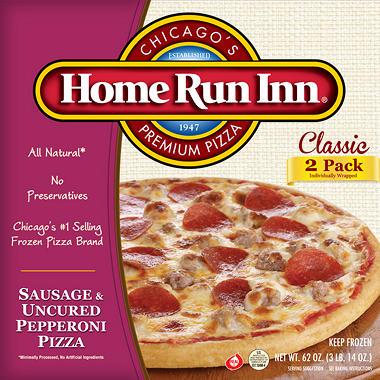 Home Run Inn Sausage Pepperoni Pizzas - 62 oz. - 2 pk.