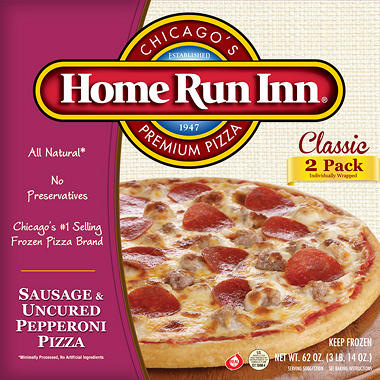 Home Run Inn Sausage Pepperoni Pizzas - 62 oz. - 2 pk.