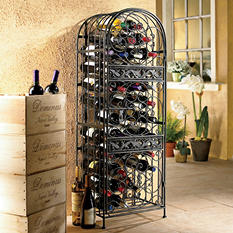 Wine Enthusiast 45-Bottle Wrought-Iron Wine Jail