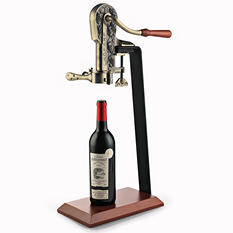Wine Enthusiast Antique Legacy Corkscrew with Birch Stand - Assorted Colors