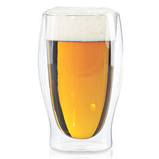 Wine Enthusiast Steady-Temp Double-Wall Beer Glasses