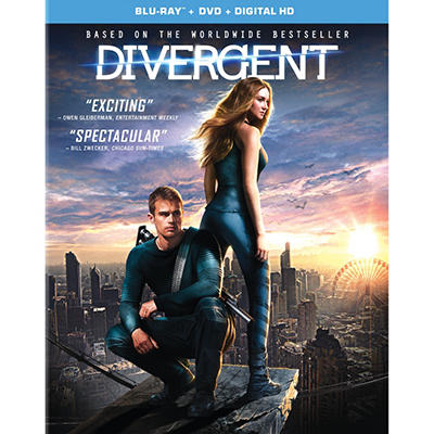Divergent (DVD + Blu Ray + Digital HD)