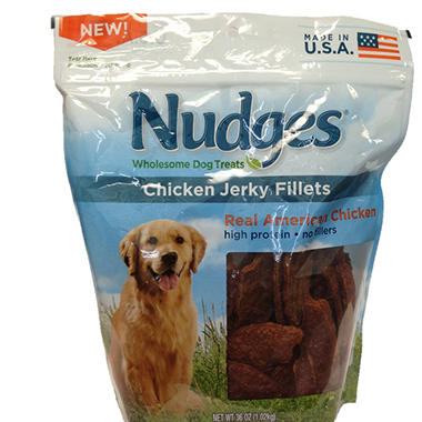 Nudges Chicken Jerky Fillets - 36 oz.