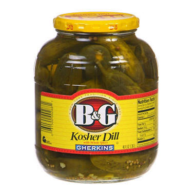 B&G® Kosher Dill Gherkins - 46 oz. jar