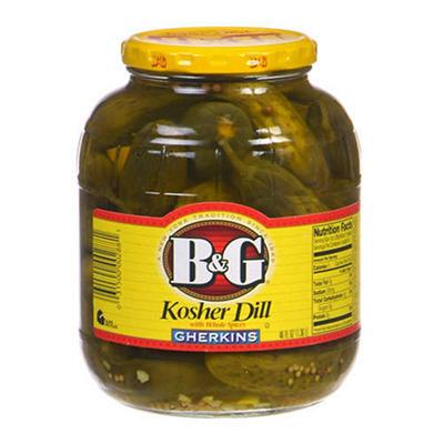 B&G® Kosher Dill Gherkins - 46 oz. jar
