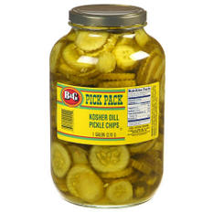 B&G® Kosher Dill Pickle Chips - 1 gallon jar