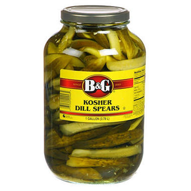 B&G� Kosher Dill Spears - 1 gallon jar