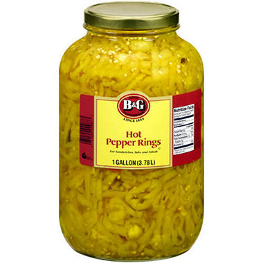 B&G® Hot Banana Pepper Rings Sliced - 1gal