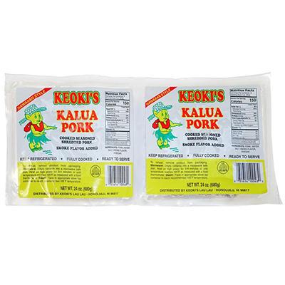 Keoki's Kalua Brand Pork -  48 oz. tub