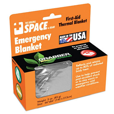 Emergency SPACE Blanket - Silver/Silver - 24 ct.