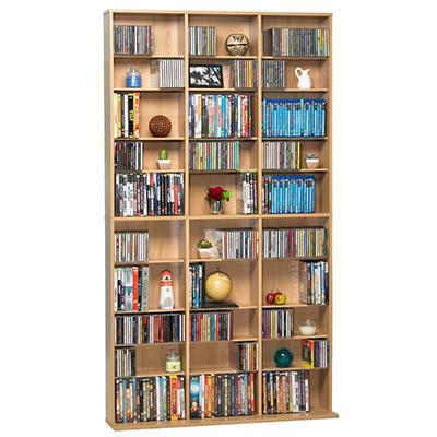 Atlantic Oskar 1080 CD Media Cabinet - Maple