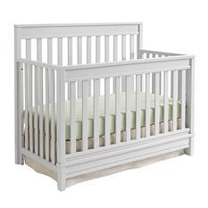 Sealy Bella 4-in-1 Convertible Crib, Light Gray