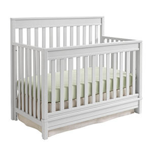 Sealy Bella 4-in-1 Convertible Crib, Light Gray