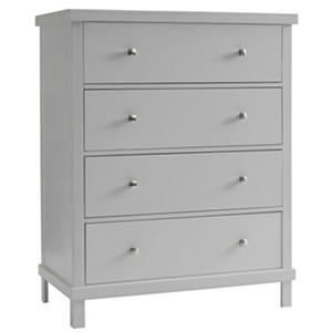 Sealy Bella 4-Drawer Contemporary Dresser, Gray