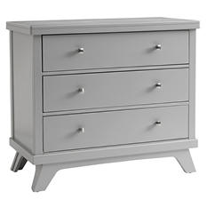 Sealy 3-Drawer Contemporary Dresser, Light Gray