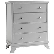 Sealy 4-Drawer Mid-Century Dresser, Gray
