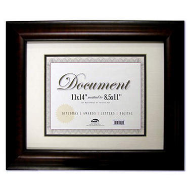 "Document Frame - Black Walnut - 11"" x 14"""