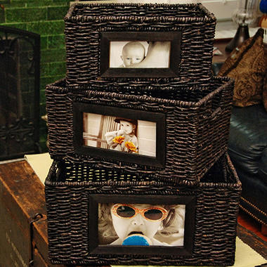 Picture Frame Basket Set - 3 pc.