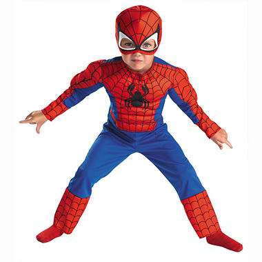 Spiderman Toddler Muscle Costume - Size 2T